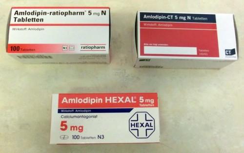 Amlodipin von unterschiedlichen Herstellern