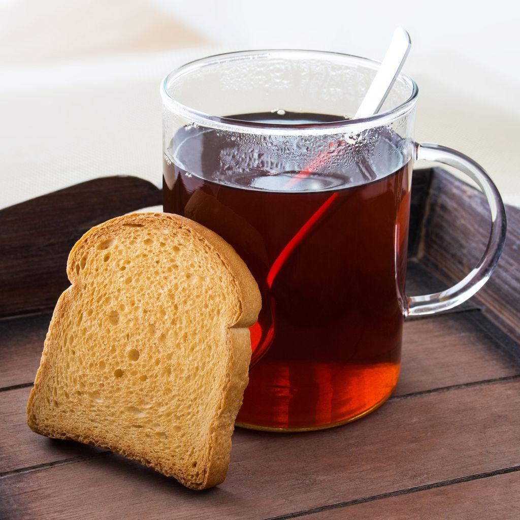 Bei Durchfall und Erbrechen:Tee und Zwieback