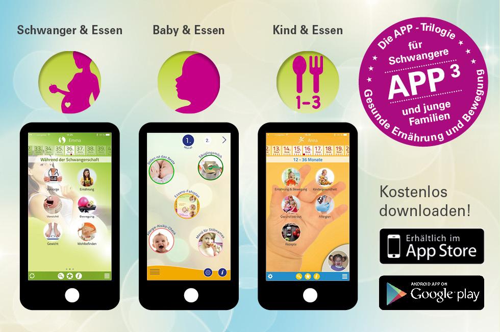 Gesund ernähren: Apps für Schwangere und junge Familien